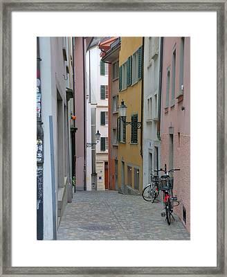 Zurich Old Town Street Framed Print