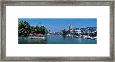 Zurich Switzerland Framed Print by Panoramic Images