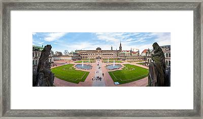 Zwinger Palace Designed By Matthaus Framed Print by Panoramic Images