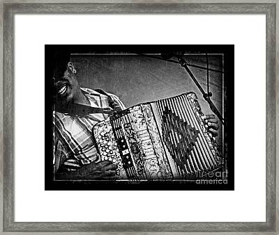 Zydeco Framed Print by Jeanne  Woods