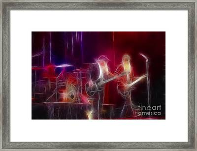Zz Top-rhythmeen-c23-fractal-4 Framed Print by Gary Gingrich Galleries