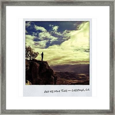 # 2. Oat Hill Mine Trail — #calistoga Framed Print
