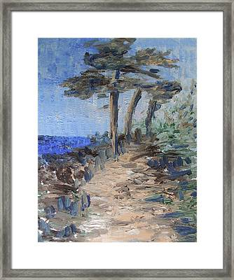3 By The Sea Framed Print