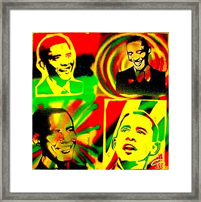 4 Rasta Obama Framed Print by Tony B Conscious