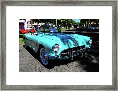 55 Corvette Framed Print