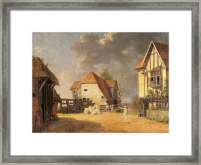 A Scene From 'the Maid Of The Mill' Framed Print by John Inigo Richards