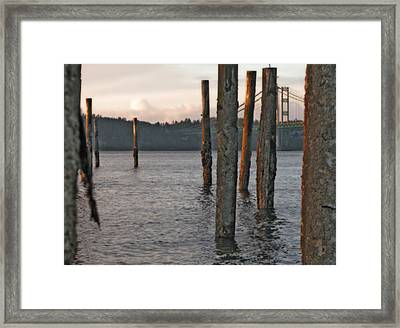 Framed Print featuring the photograph  A Titlow Sunset by Chris Anderson