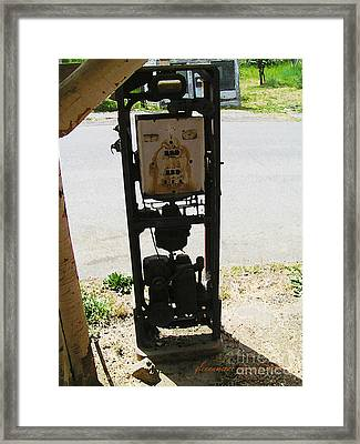 An American Vintage Gas Pump Series Two                    Framed Print by Glenna McRae