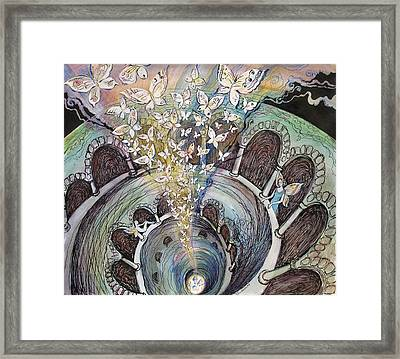 Ascension Of Butterflies Framed Print