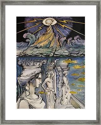 Atlantida Framed Print by Valentina Plishchina