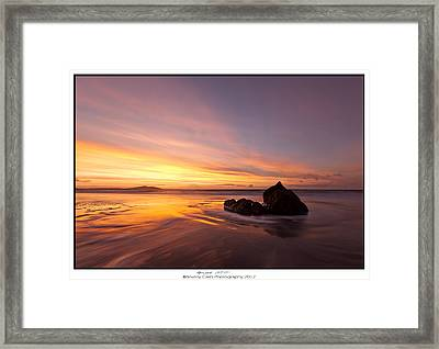Atomic Sunset Framed Print