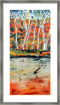 Framed Print featuring the painting  Aussiebillabong by Roberto Gagliardi