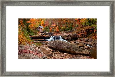 Autumn Leaves At The Mill Framed Print by Randall Branham