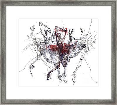 Ballet Trajectory Or Nutckracker Framed Print by Lousine Hogtanian