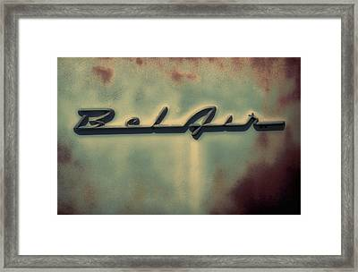 Bel Air Insignia Framed Print by Tony Grider