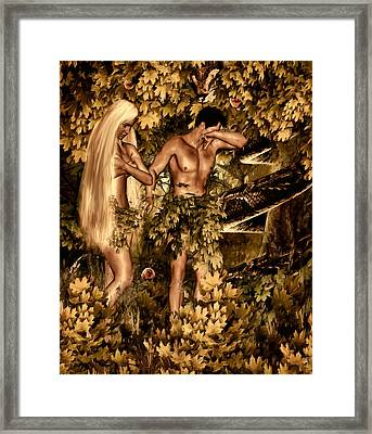 Birth Of Sin Framed Print by Lourry Legarde