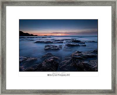 Blue Dusk Framed Print