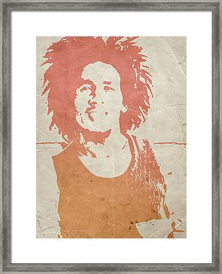Bob Marley Brown Framed Print