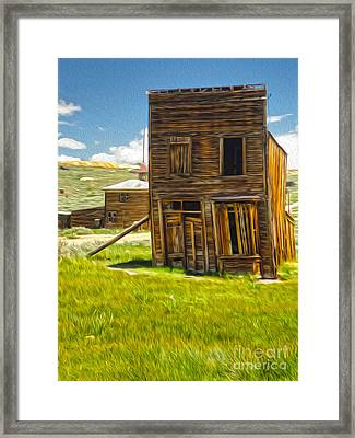Bodie Ghost Town - Bent House 02 Framed Print by Gregory Dyer