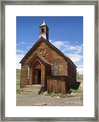 Bodie Ghost Town - Church 01 Framed Print by Gregory Dyer