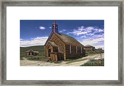 Bodie Ghost Town - Church 02 Framed Print by Gregory Dyer