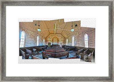 Bodie Ghost Town - Church 03 Framed Print by Gregory Dyer