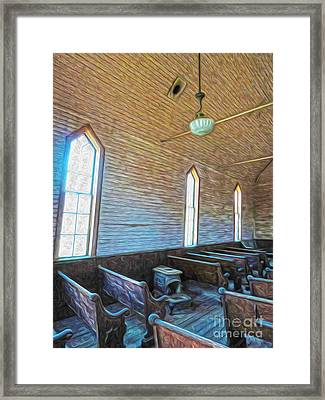 Bodie Ghost Town - Church 05 Framed Print by Gregory Dyer