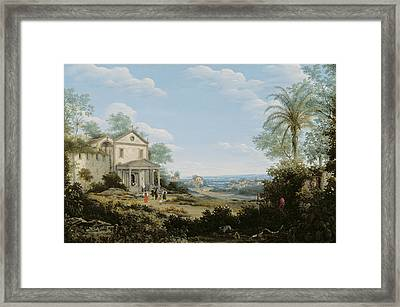 Brazilian Landscape Framed Print by Frans Jansz Post