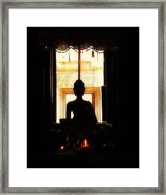 Framed Print featuring the photograph  Buddha by Lynn Hughes