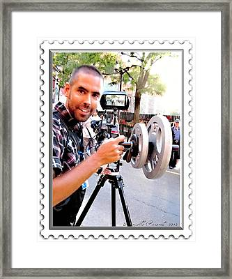 Chch Tv And Cbc Royal Action  Framed Print by Danielle  Parent