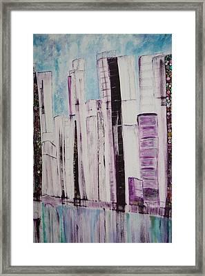 City Framed Print by Elisabeth Charbonneau
