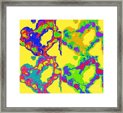 Colorful Abstract Painting Hearts No.25 Framed Print by Drinka Mercep
