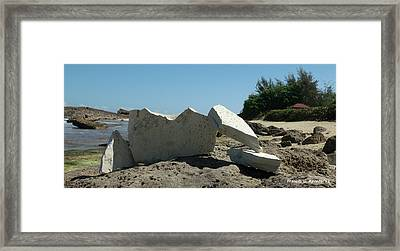 Concrete On The Rock Framed Print by Frances G Aponte