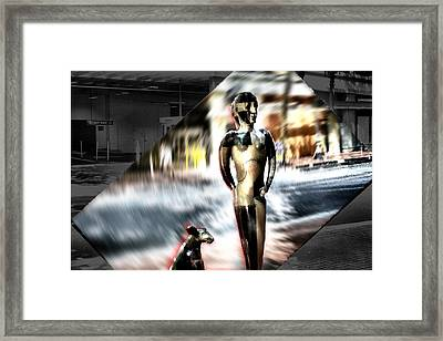 Framed Print featuring the mixed media  Critics by Terence Morrissey