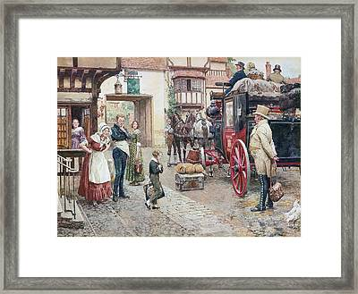David Copperfield Goes To School Framed Print by Fortunino Matania