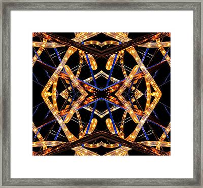 Design X Lights Framed Print by  Andrew  Thomas