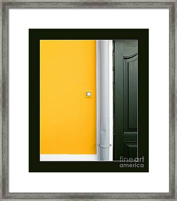 Door Framed Print by Odon Czintos