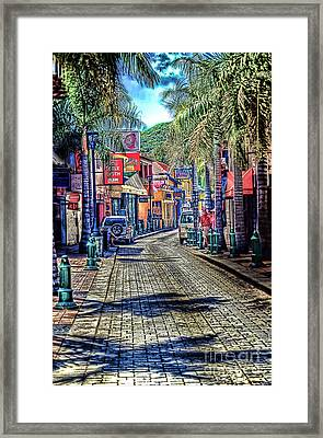 Entering Front Street Framed Print by Arnie Goldstein
