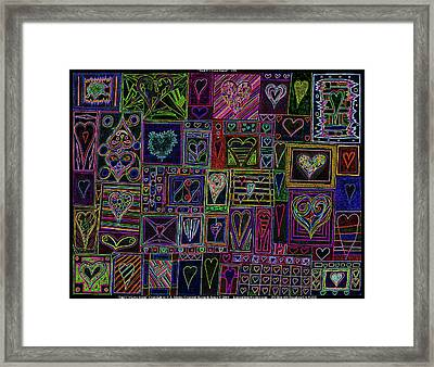 Find U'r Love Found V 3 Framed Print