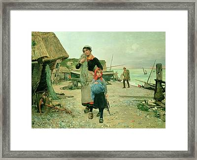 Fisherfolk Returning With Their Nets Framed Print by Henry Bacon