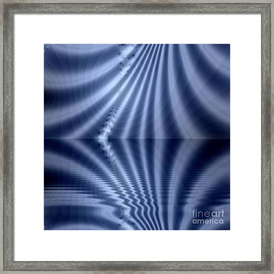 Fractal Reflection Framed Print by Odon Czintos