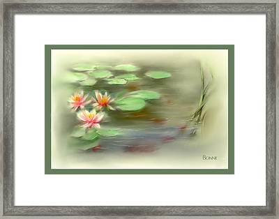 Framed Print featuring the painting  Gold Fish Pond by Bonnie Willis