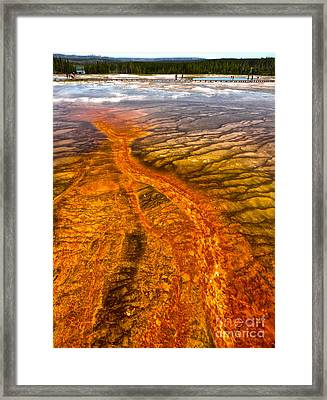 Grand Prismatic Spring In Yellowstone National Park - 02 Framed Print by Gregory Dyer