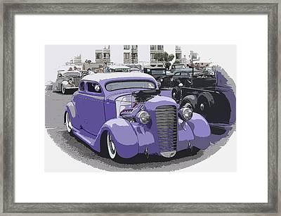 Hot Rod Purple Framed Print by Steve McKinzie