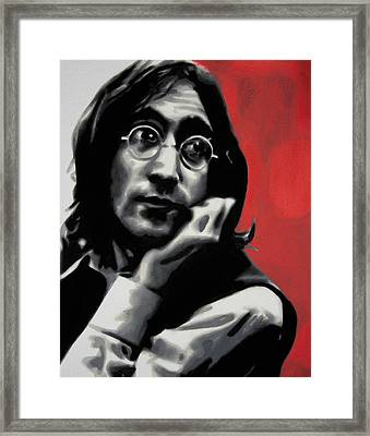- Imagine - Red Detail - Framed Print by Luis Ludzska