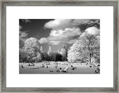 Framed Print featuring the photograph  In Park by Odon Czintos