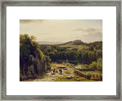 Landscape In The Harz Mountains Framed Print by Thomas Worthington Whittredge