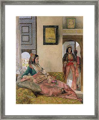 Life In The Harem - Cairo Framed Print by John Frederick Lewis