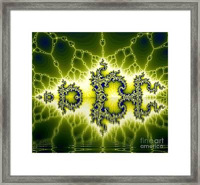 Light Fractal Reflection Framed Print by Odon Czintos