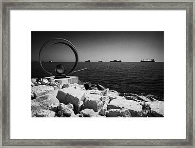 Limassol Sculpture Park In Twin Cities Park On Reclaimed Land Lemesos Republic Of Cyprus Europe Framed Print